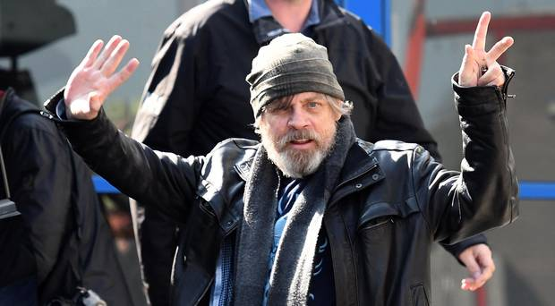 Mark Hamill arrives in Belfast. Image: Belfast Telegraph
