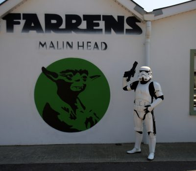 Yoda Mural at Farrens Bar ~ Malin Head, Ireland: Image JJ McGettigan from the Emerald Garrison
