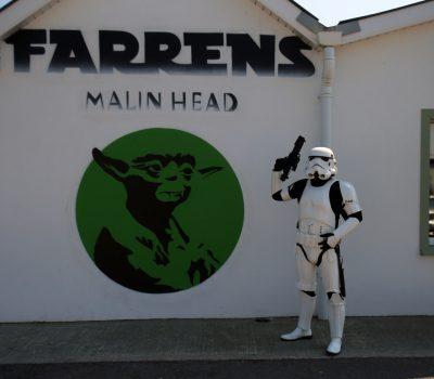 Yoda Mural at Farrens Bar ~ Malin Head, Ireland: Image JJ McGettigan from the Emerald Garrison