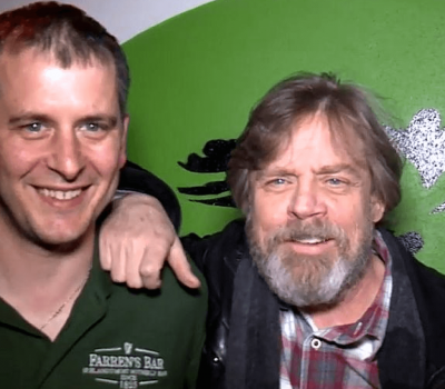 Mark Hamill and Hugh Farren at Malin Head, Donegal ~ Ireland