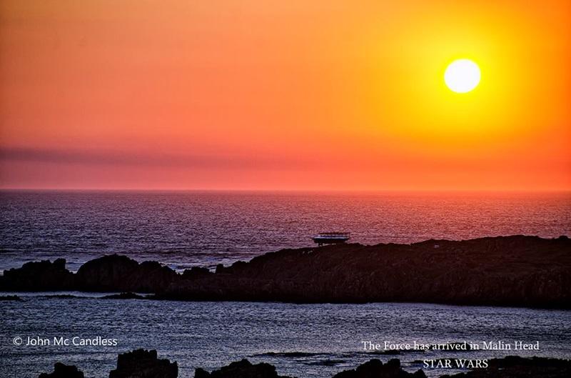 Millennium Falcon at Sunset ~ Malin Head, Ireland. Image: John Mc Candless: Joe.ie