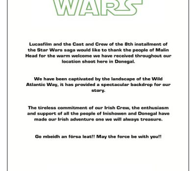 Lucasfilm Star Wars Letter - Donegal
