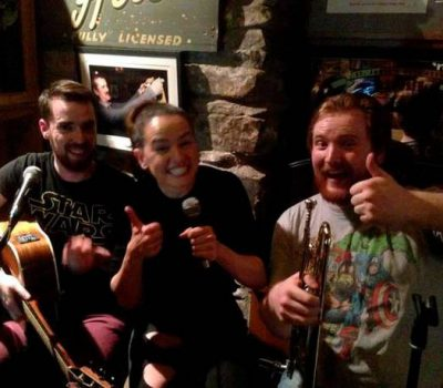 Daisy Ridley and local band Tasty ~ McGrorys, Donegal. Image: Independant.ie