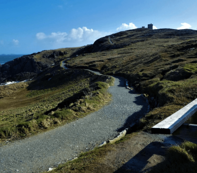 A seat with a view at Malin Head, Donegal ~ Ahch-To Way, Ireland